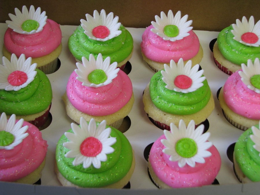 Pink And Green Cupcakes on Cake Central