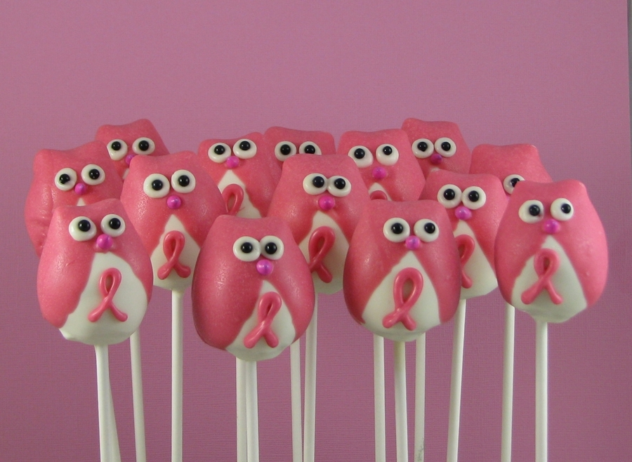 Breast Cancer Awareness Owls on Cake Central