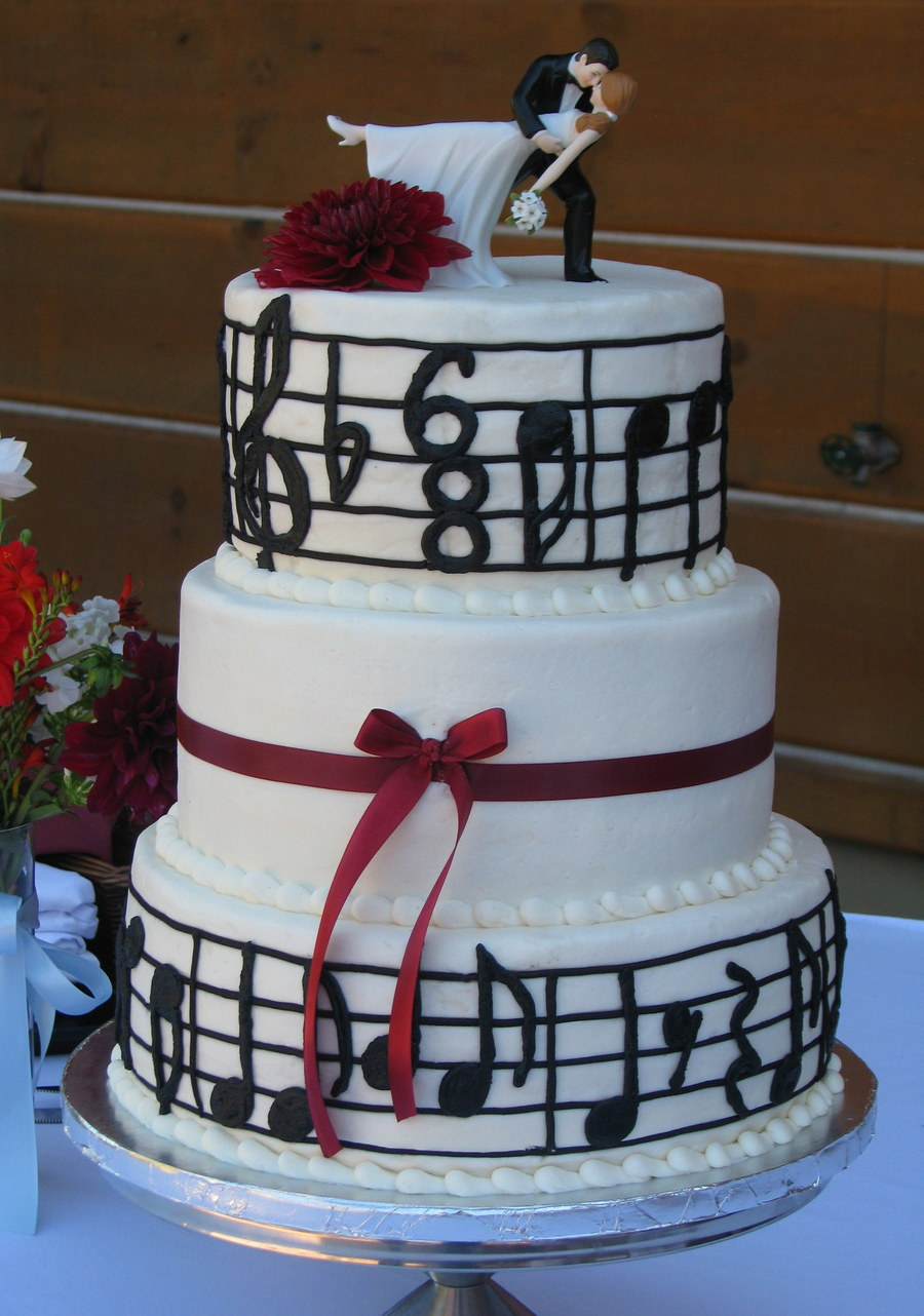 Music Note Wedding Cake Cakecentralcom