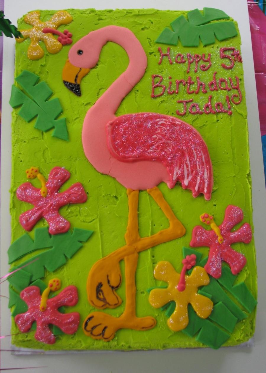Flamingo Sheet Cake Cakecentral Com