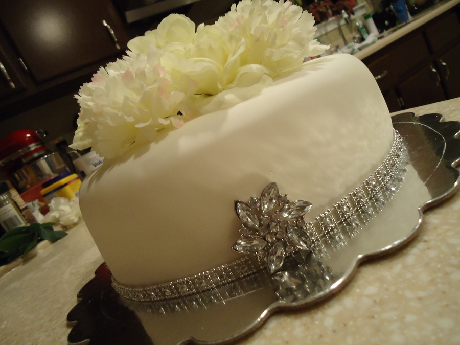 Small Wedding Bling  on Cake Central