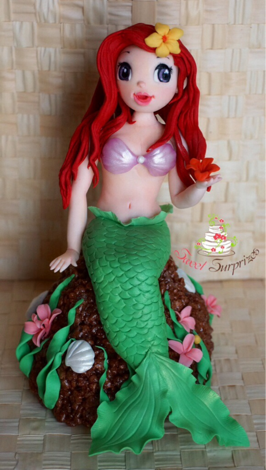 Ariel Cake Topper Completely Hand Moulded on Cake Central