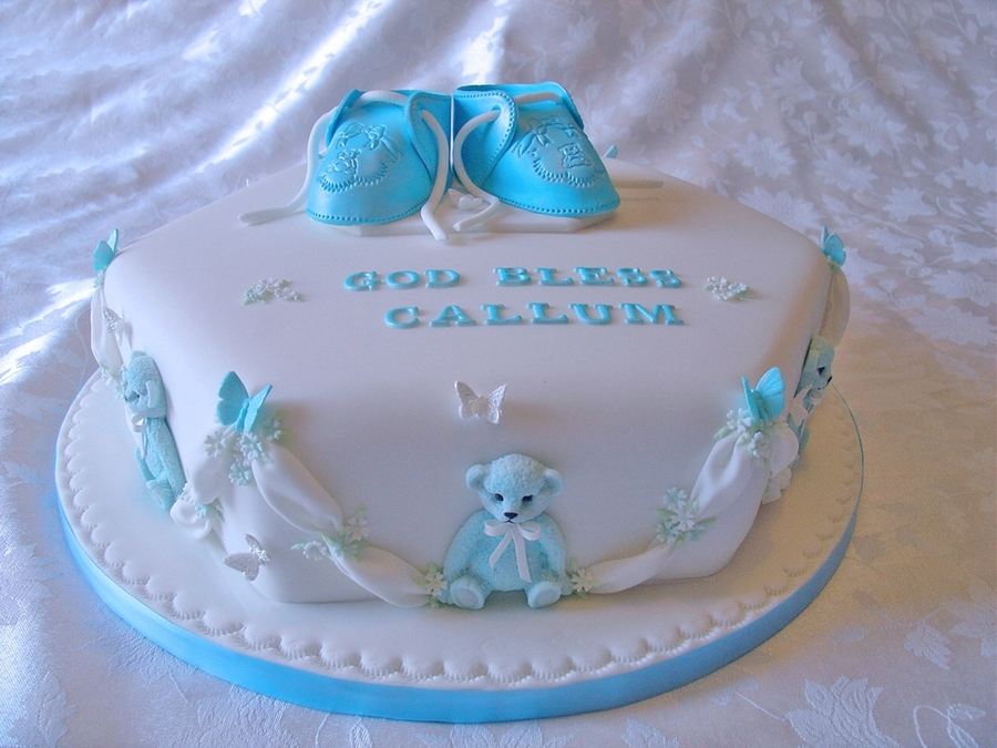 Booties Christening  on Cake Central