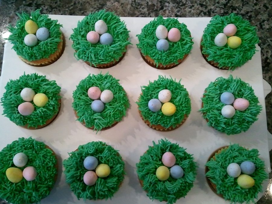 Easter Egg Cupcakes on Cake Central
