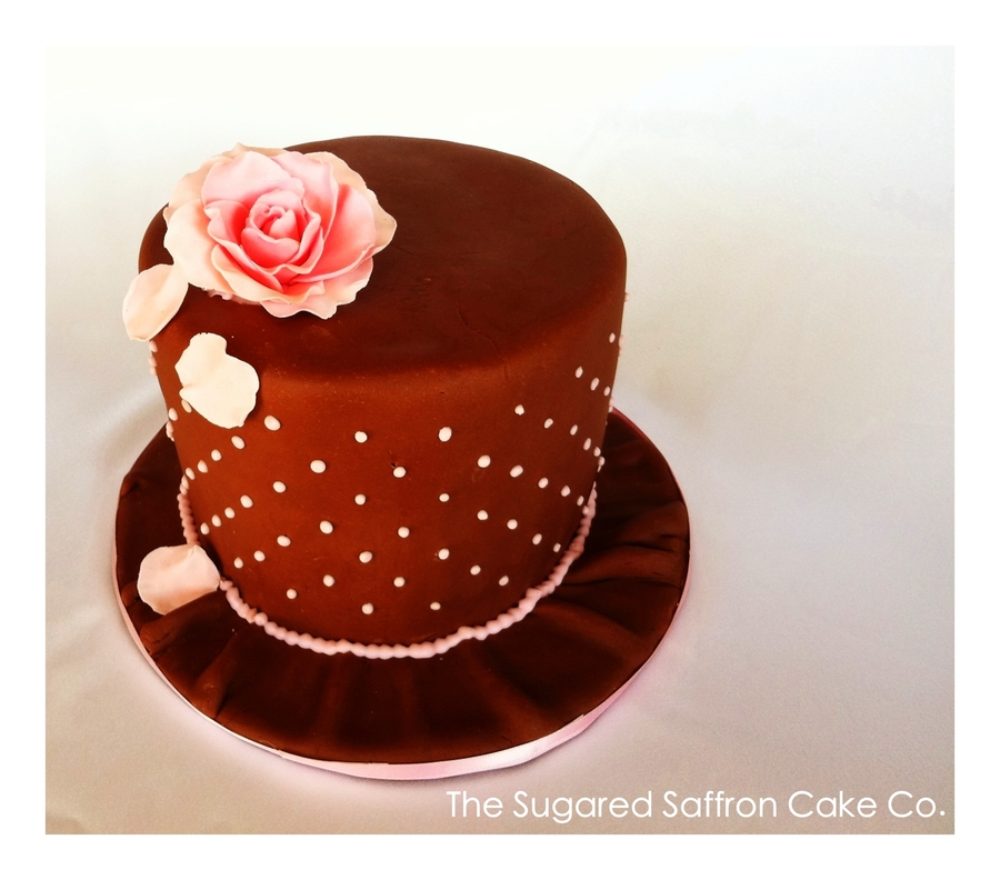 Pink Rose Petal Chocolate Cake on Cake Central