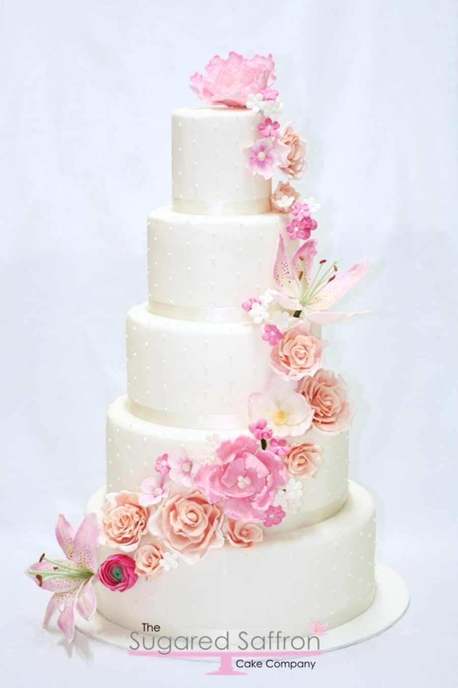 wedding cake pictures with cascading flowers sugar flower cascade cake cakecentral 23446