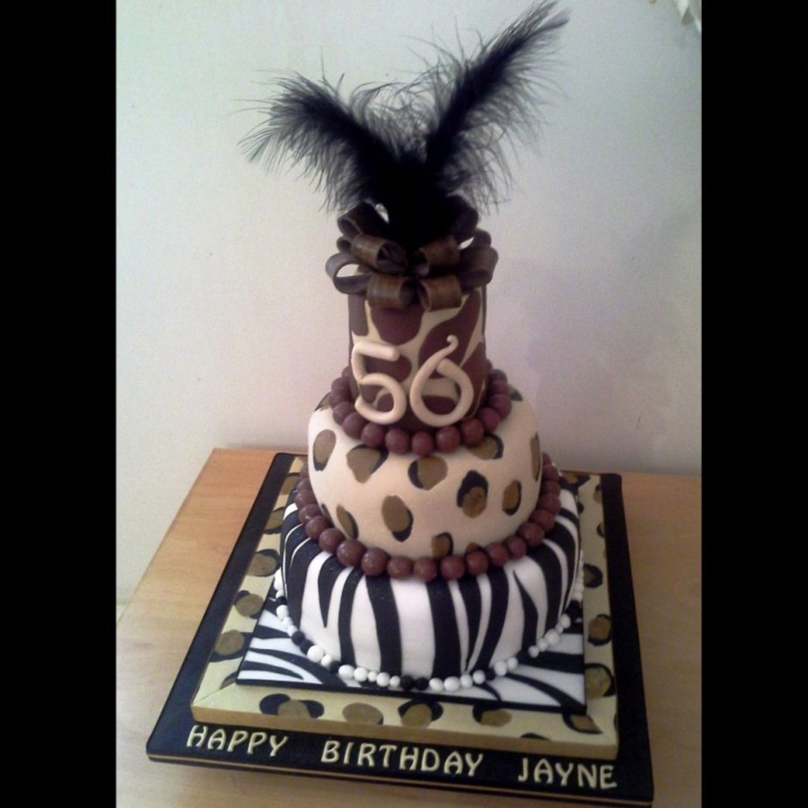 Animal Print 50Th Birthday Cake Zebra Cheetah Amp Giraffe on Cake Central
