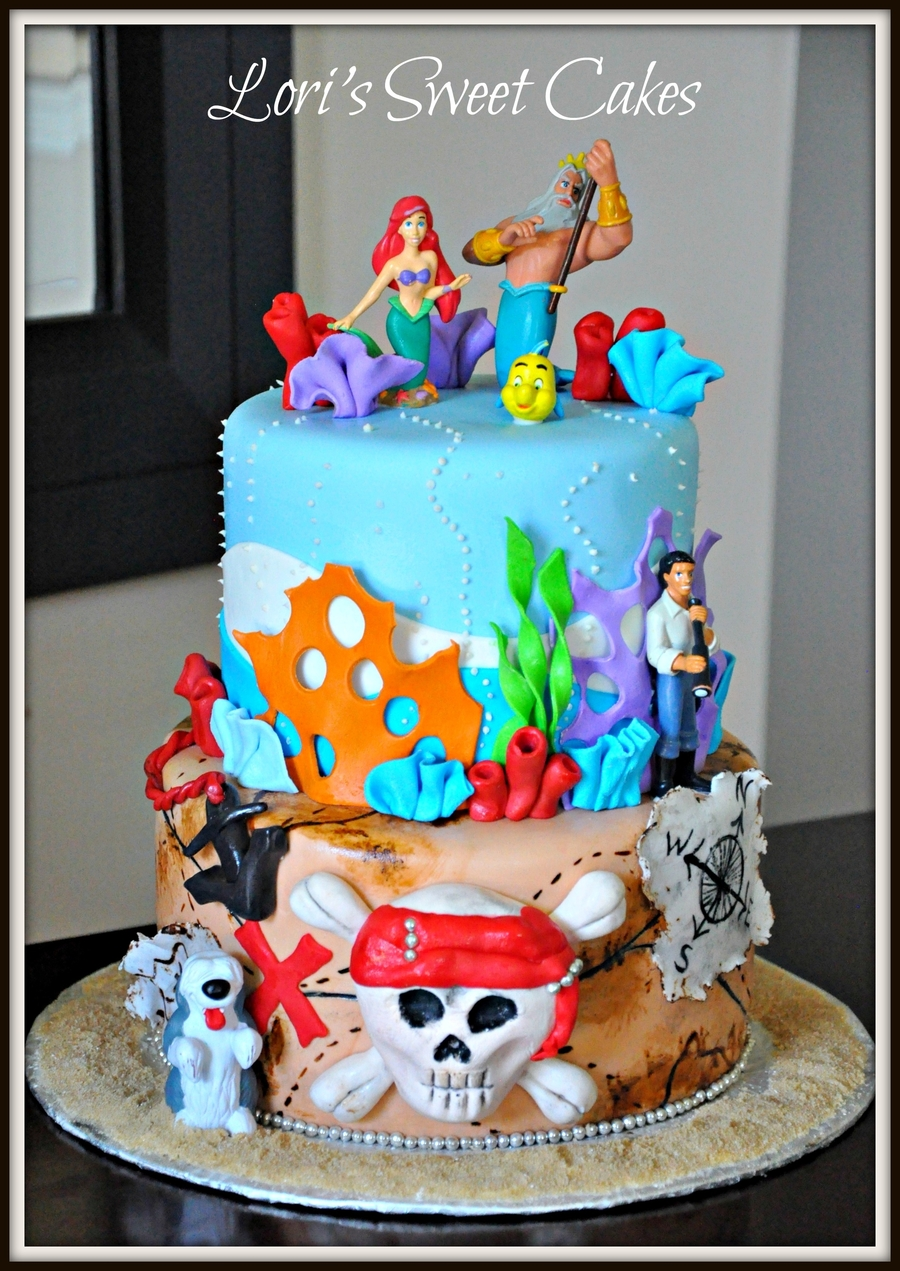 Little Mermaid And Pirate S Caribbean Cakecentral Com