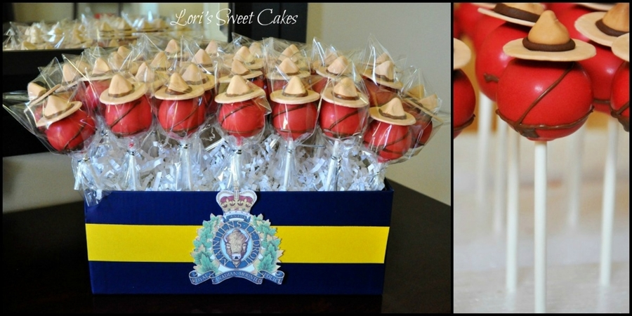 Mountie/rcmp Cake Pops on Cake Central