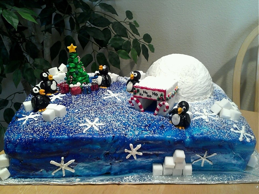 Penguin Christmas on Cake Central