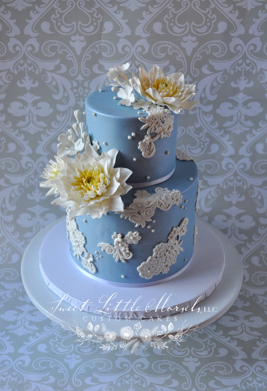 Dahlia And Lace Cake on Cake Central