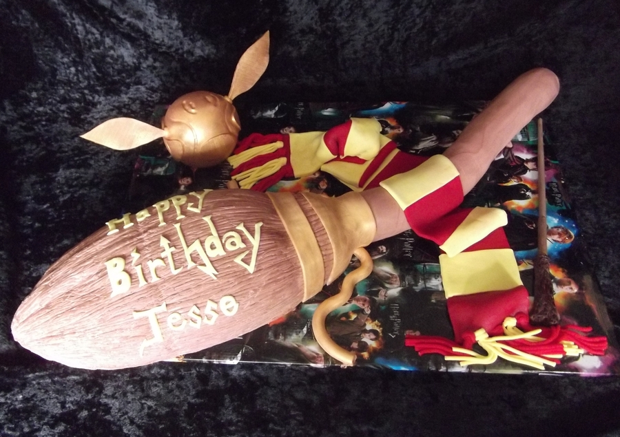 Harry Potter Theme Cake  on Cake Central