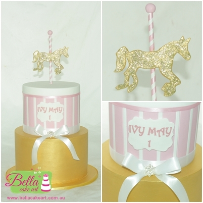 Surprising Carousel First Birthday Cake Cakecentral Com Personalised Birthday Cards Akebfashionlily Jamesorg