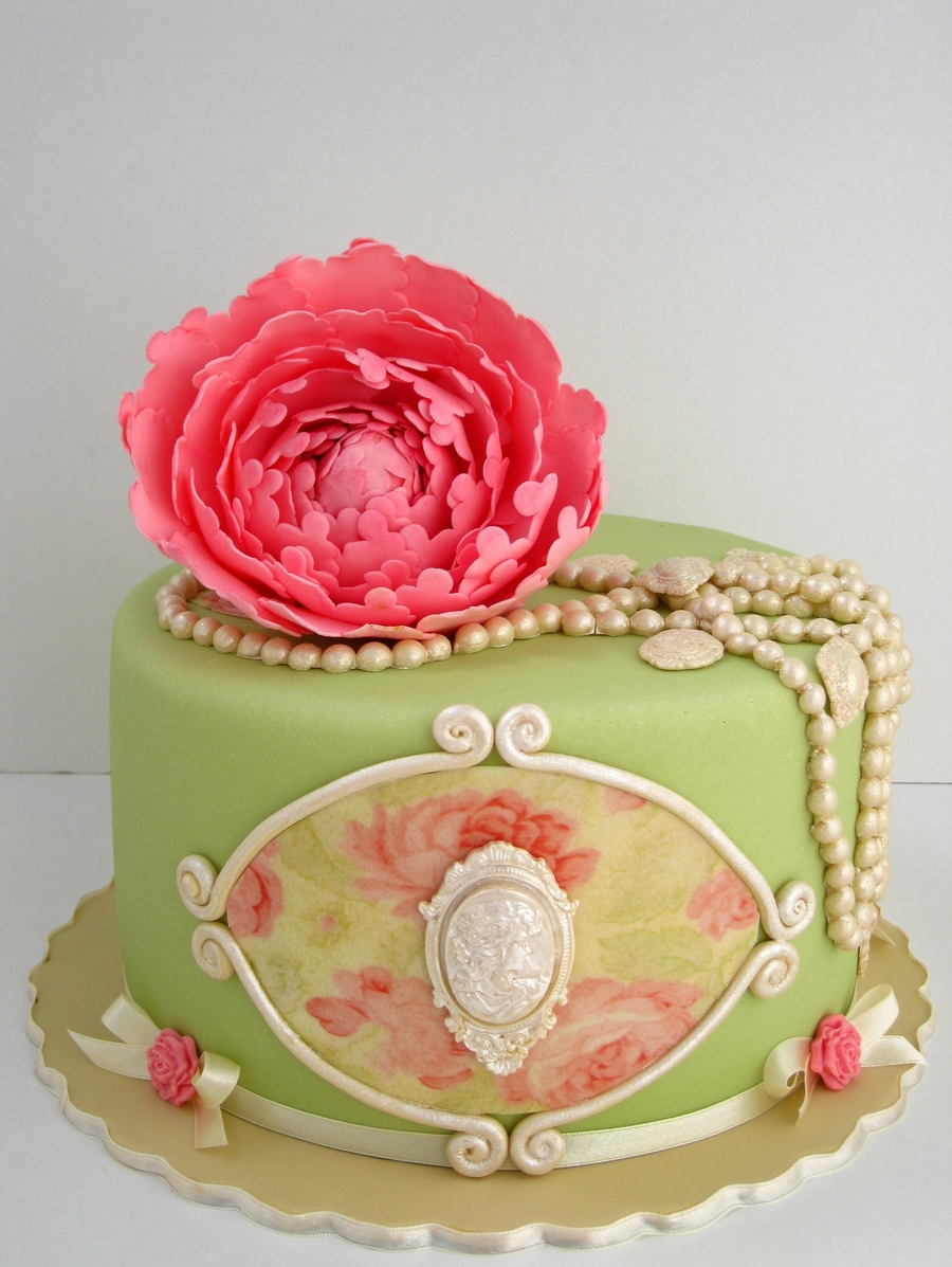 Shabby Chick Cake on Cake Central