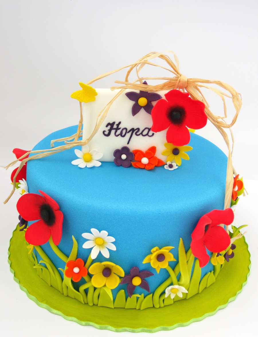 Summer Flower Cake on Cake Central