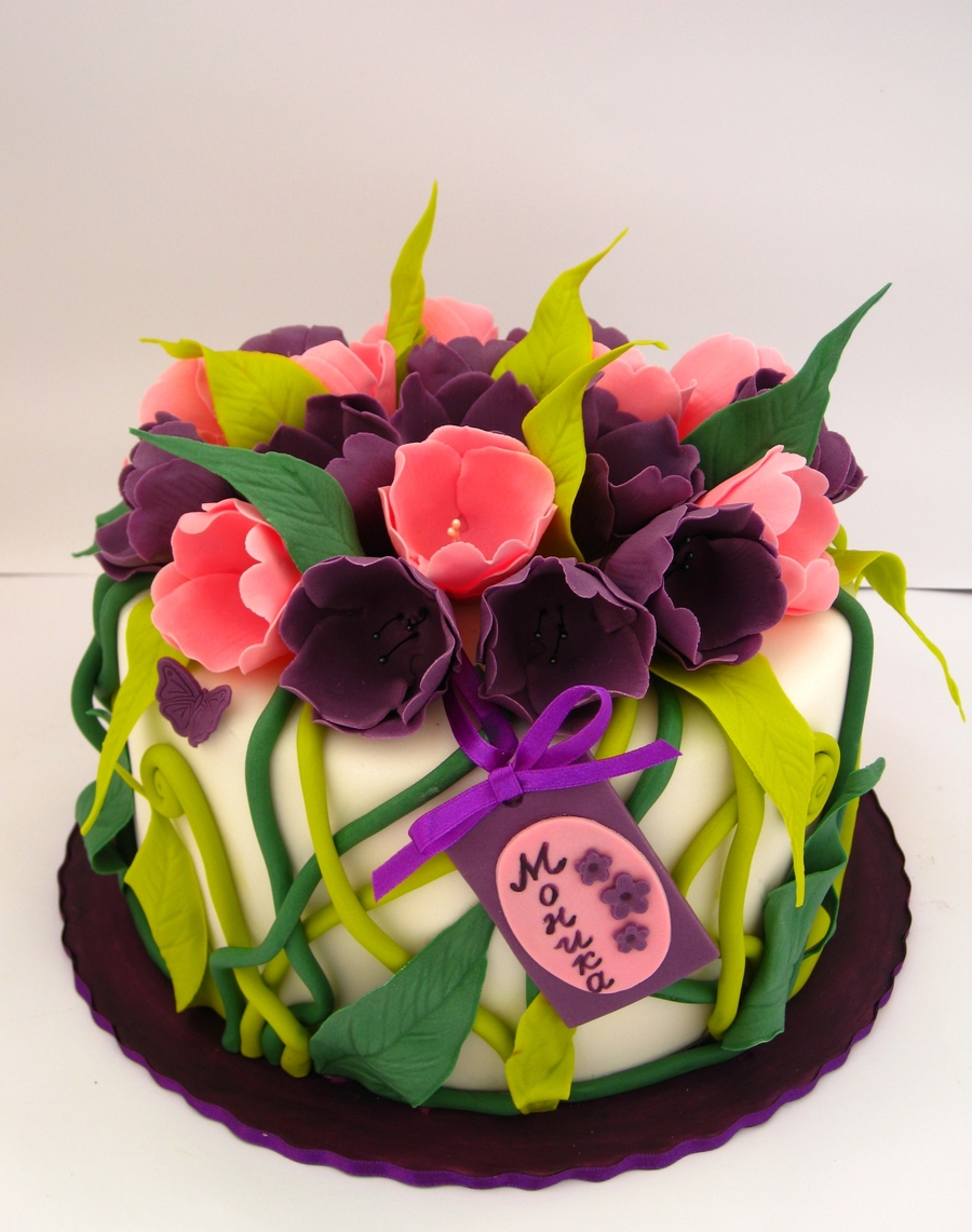 Tulips Cake on Cake Central