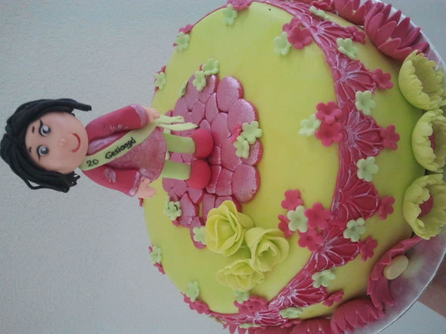 Lime Green Pink on Cake Central