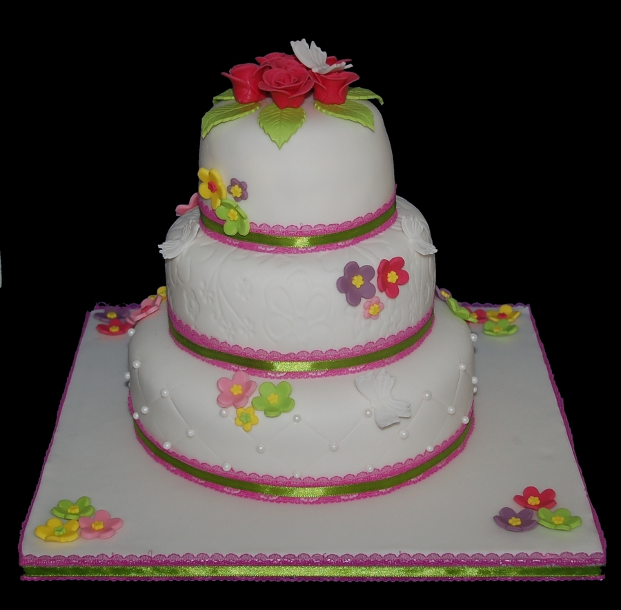 Small Wedding Cake on Cake Central