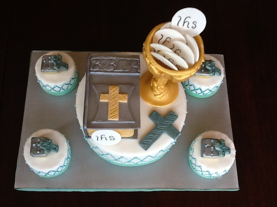 Boy's First Communion on Cake Central