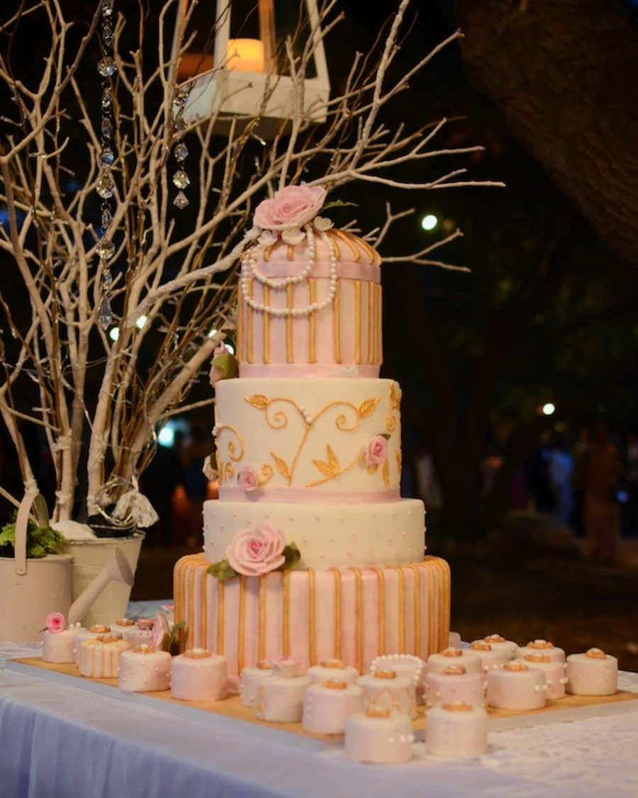 Shabby Chic Wedding on Cake Central