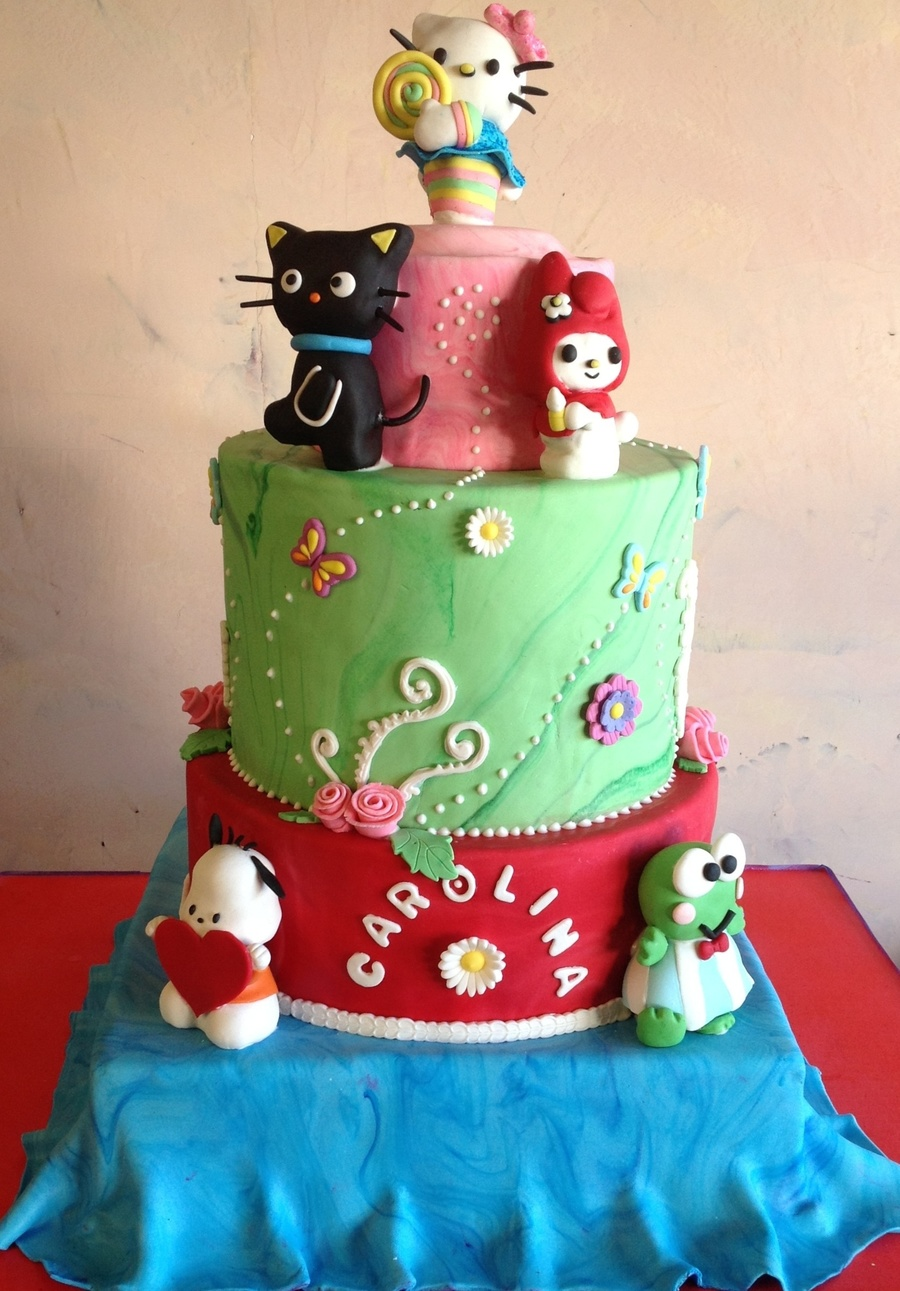 Hello Kitty And Friends! on Cake Central