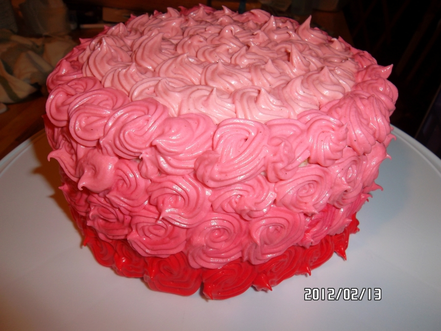 Valentine Cake For The Office Ladies on Cake Central