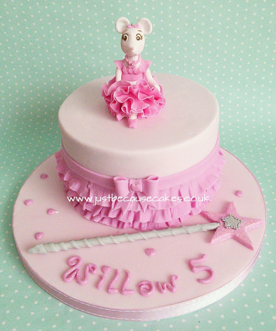 Phenomenal Angelina Ballerina Birthday Cake Cakecentral Com Personalised Birthday Cards Paralily Jamesorg
