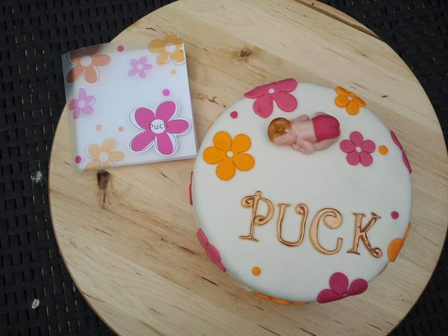 Celebrate A New Baby Girl.... Puck on Cake Central