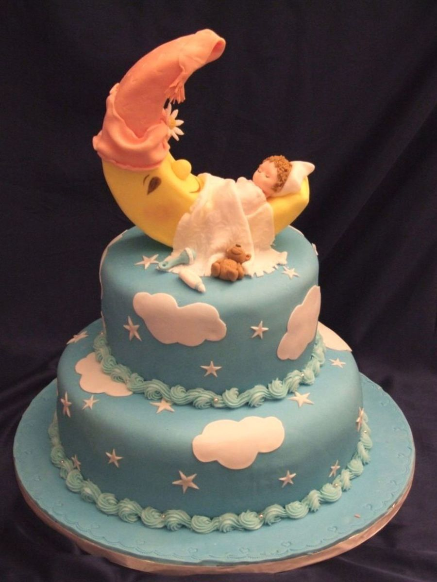 Baby On Moon on Cake Central