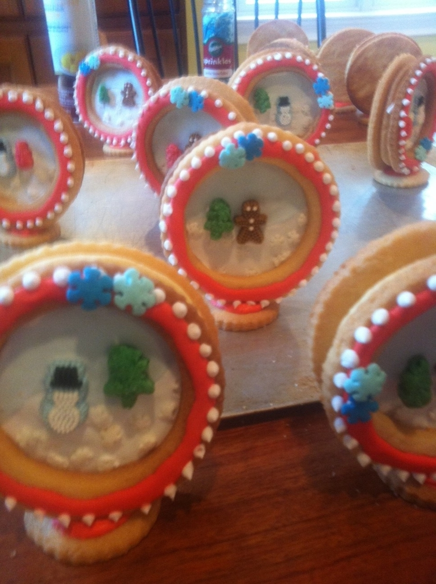 Snowglobe Cookies on Cake Central