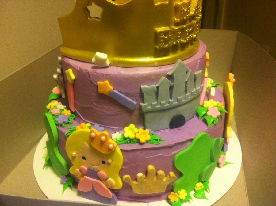 Birthday Cake For A Little Girl Turning 4 My First ...