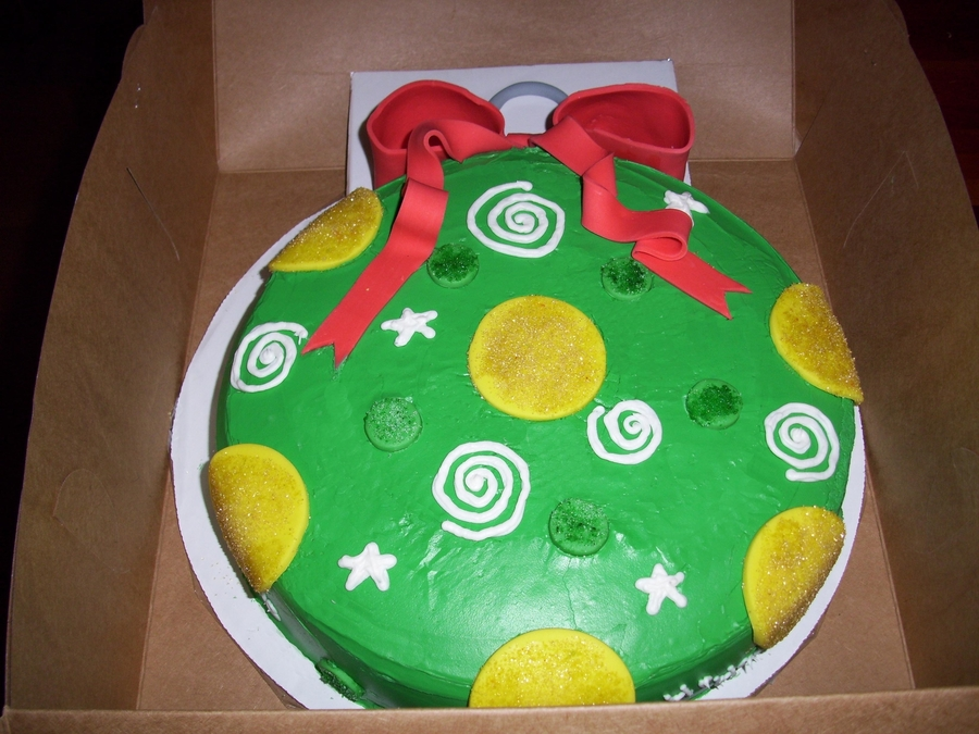 Christmast Tree Ornament on Cake Central