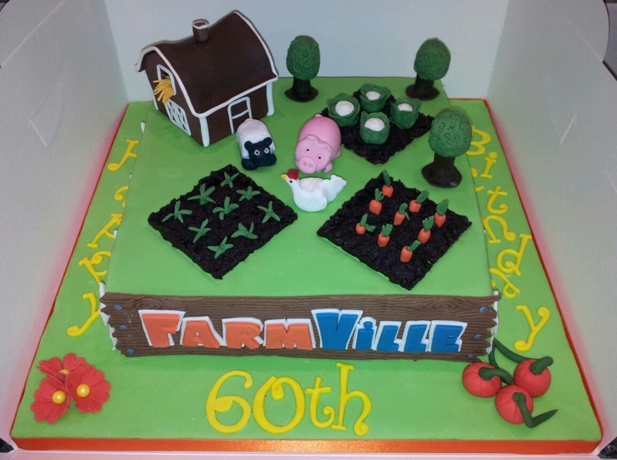 Farmville Birthday Cake on Cake Central