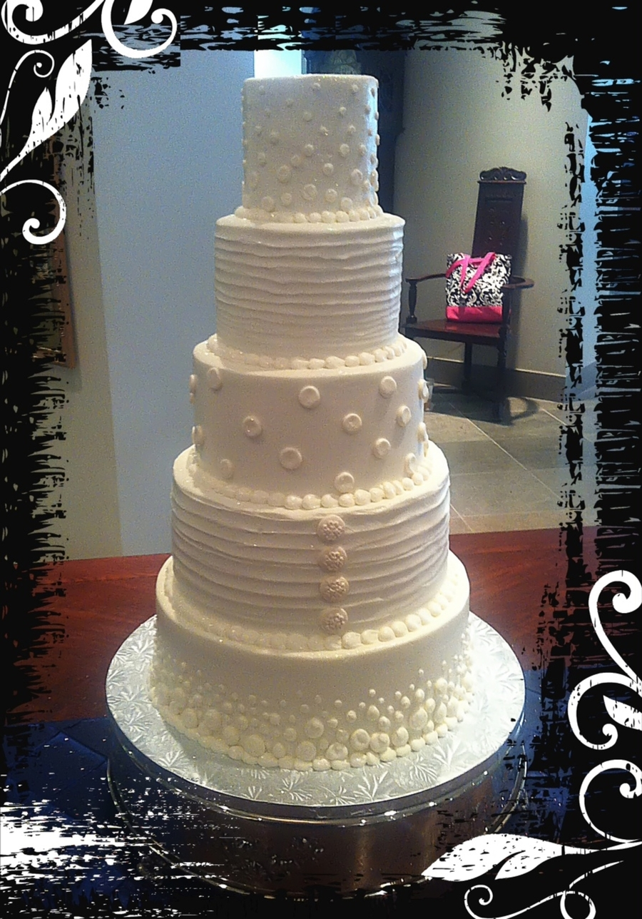 5 Tier Wedding Cake on Cake Central