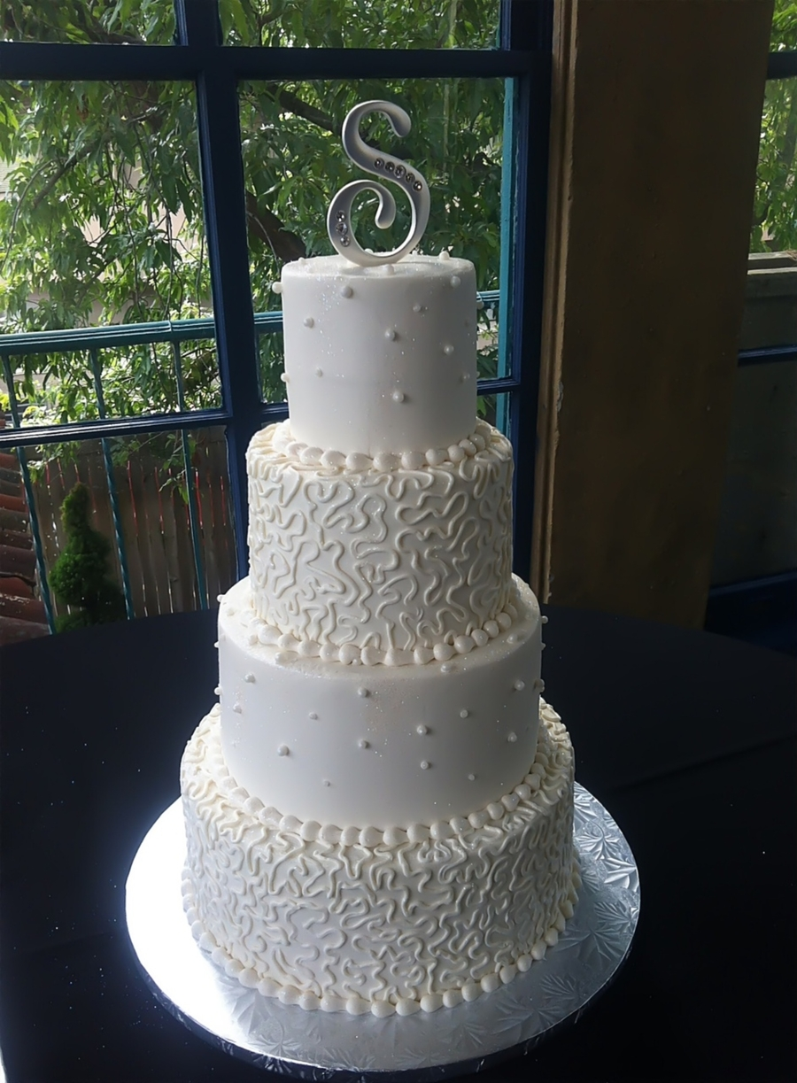 Cornelli Lace Wedding Cake on Cake Central