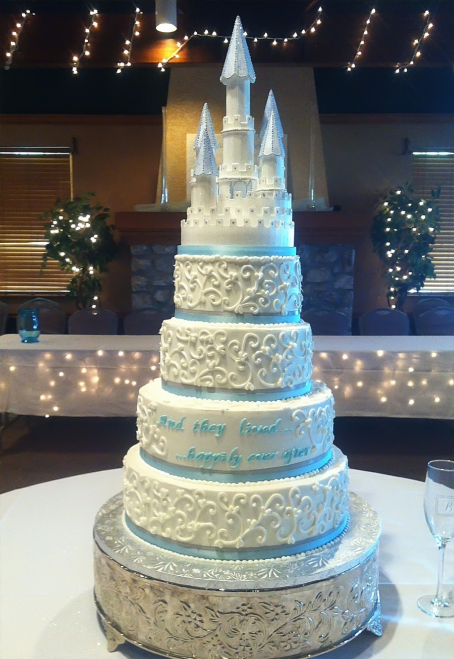 Princess Castle Wedding Cake on Cake Central