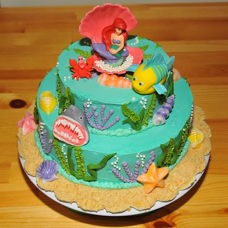 Ariel Birthday Cakes Images