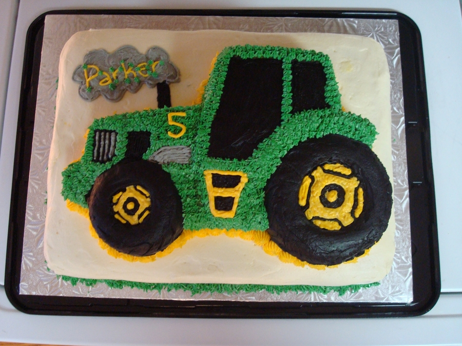 John Deere Tractor Cake CakeCentralcom