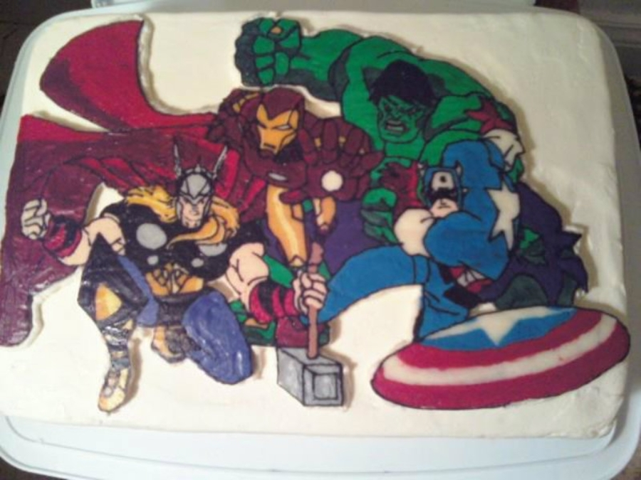 Avengers Super Hero Birthday Cake on Cake Central