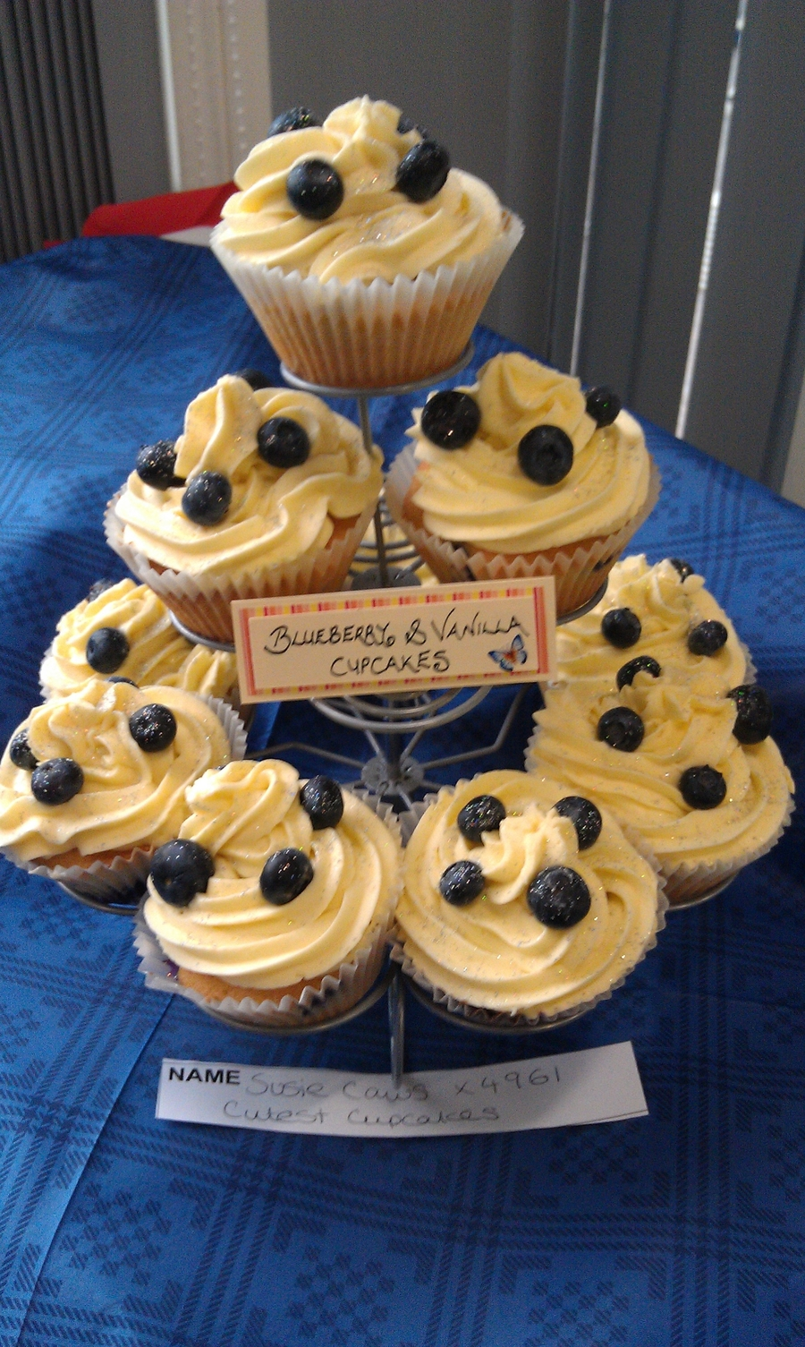Blueberry And Vanilla Cupcakes on Cake Central