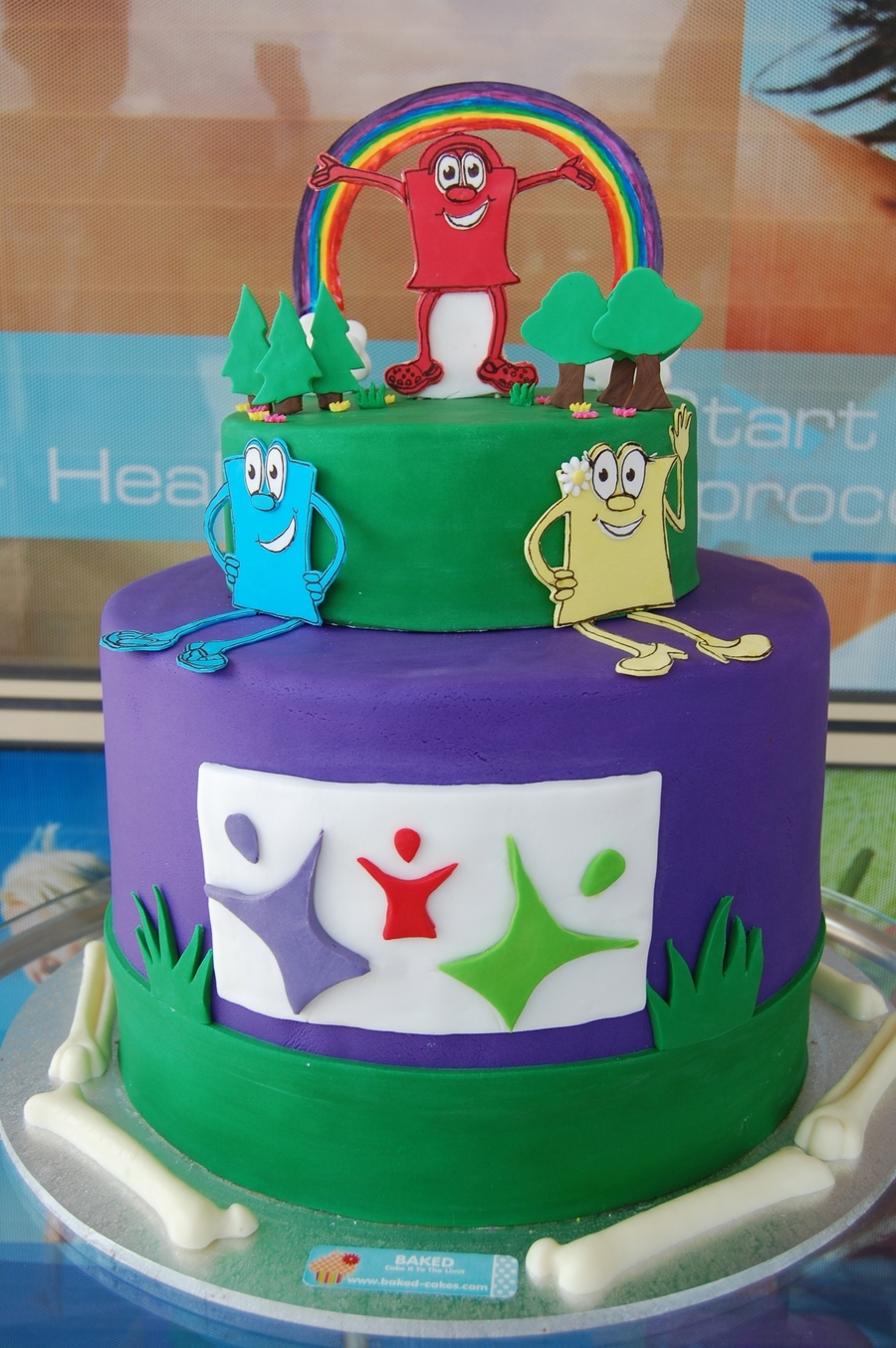 """family Fun Day"" Cake For A Chiropractic Clinic on Cake Central"