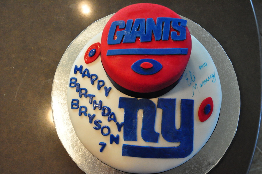 Terrific Ny Giants Birthday Cake Cakecentral Com Funny Birthday Cards Online Fluifree Goldxyz
