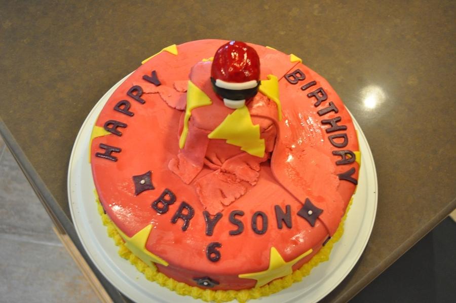 Groovy Power Rangers Birthday Cake Cakecentral Com Funny Birthday Cards Online Alyptdamsfinfo
