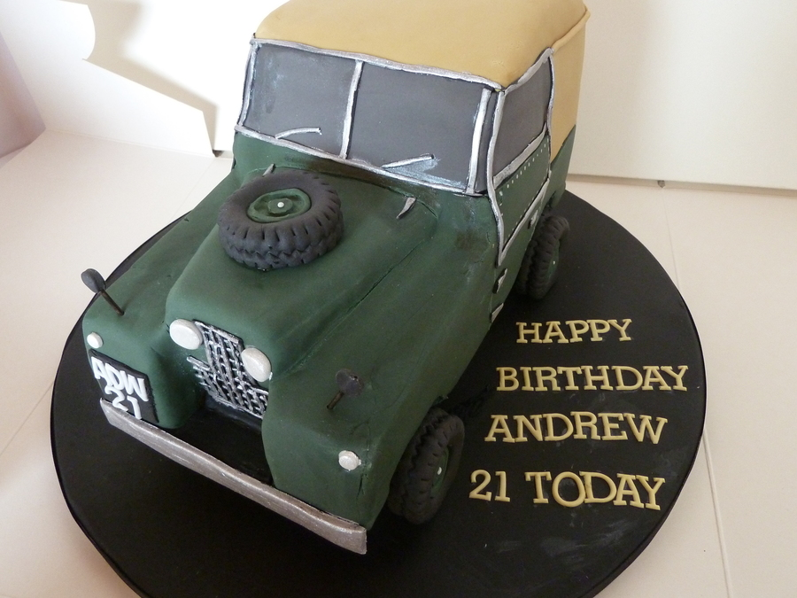 Land Rover Birthday Cake on Cake Central