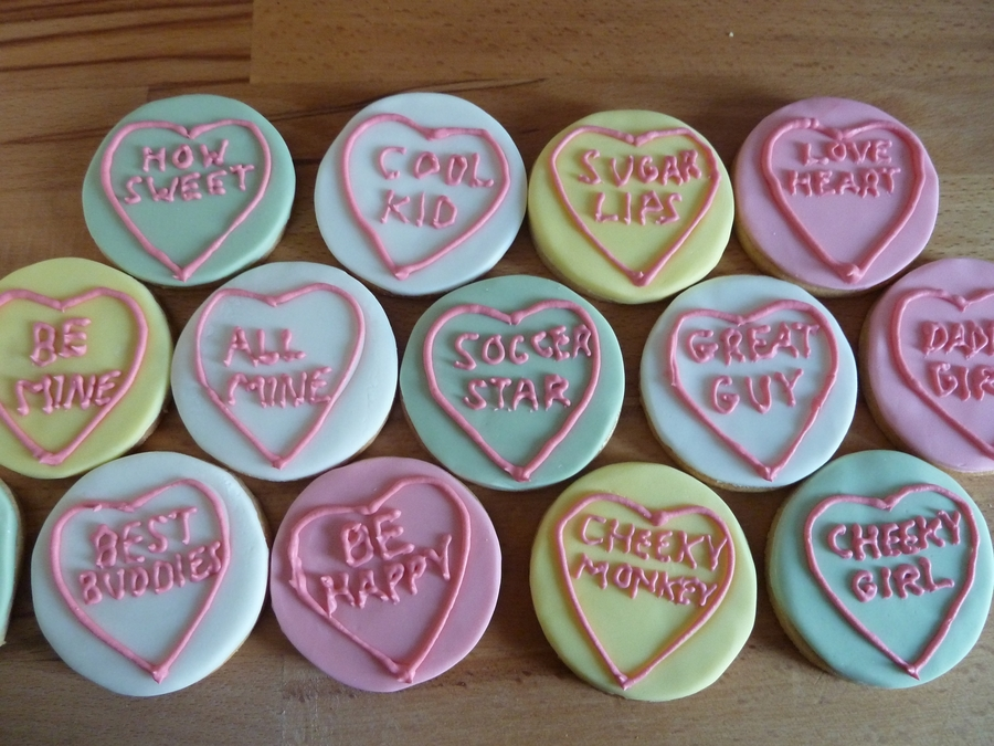 """love Hearts"" Cookies on Cake Central"