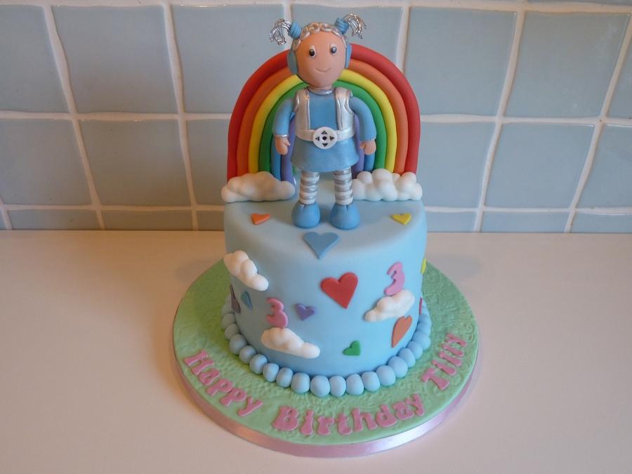 Rainbow Birthday Cake ( show Me Show Me ) - CakeCentral.com
