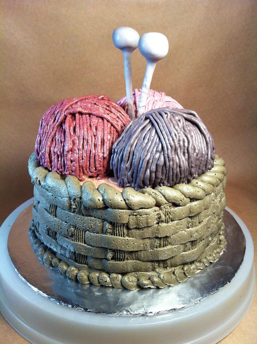 Knitting Cake Tutorial : Knitting basket cake cakecentral