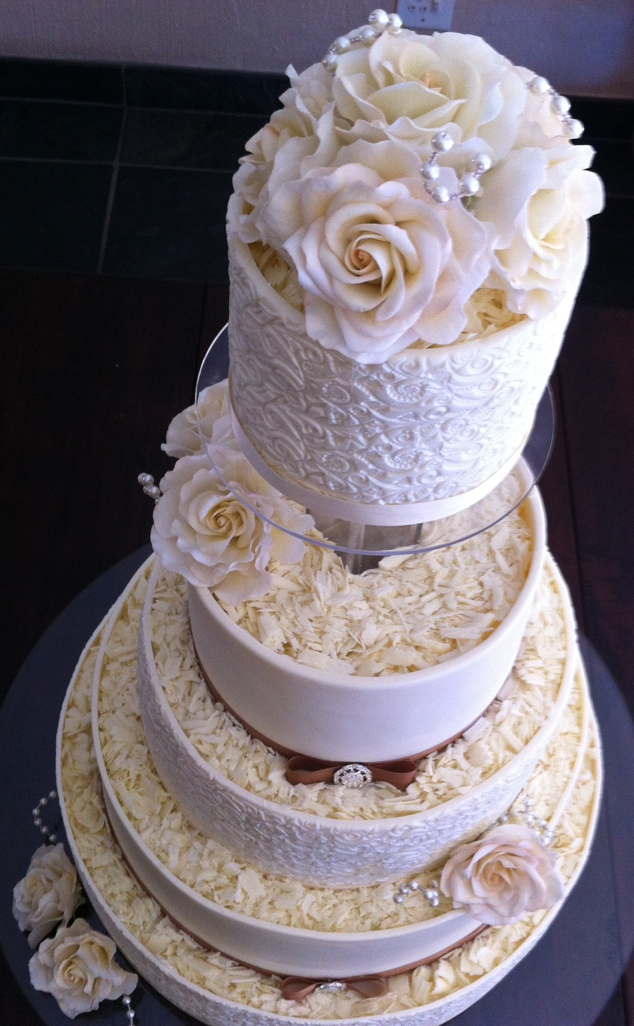 white and chocolate wedding cake white chocolate wedding cake cakecentral 27203