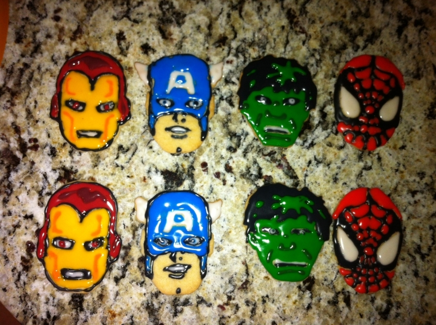 Avenger Cookies  on Cake Central