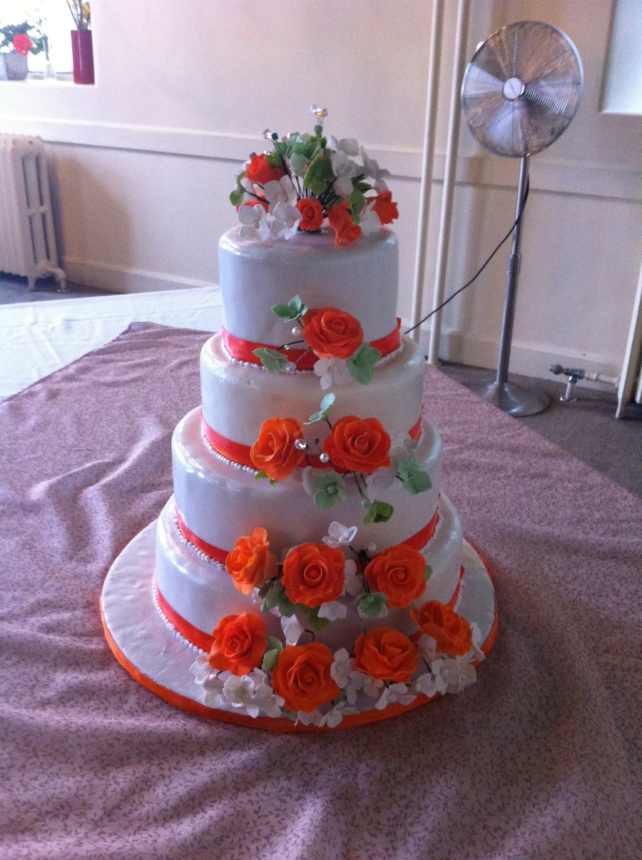 121086 Gumpaste Roses And Hydrangeas on Cake Central
